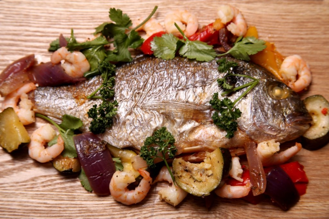 This Sea Bream Platter was one of a Food Photoshoot created in the kitchen for my client in Bromley. By Dpi Photography.