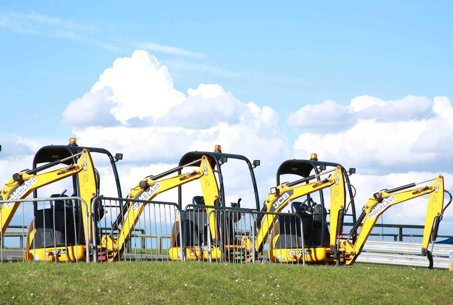 This was a shot taken at Brands hatch of some diggers working in the grounds. By Dpi Photography