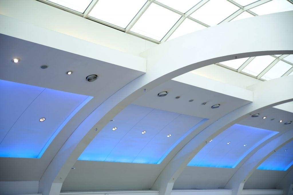 This shot was taken of the roof structure in the Crawley shopping Mall. By Dpi Photography.