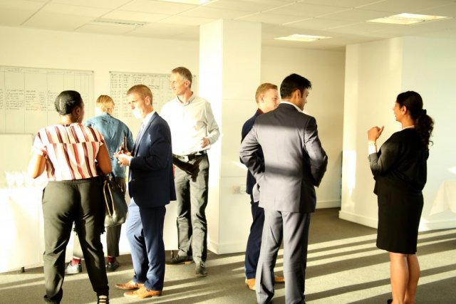This was photo was taken at the Shaking hands social event at Impact house in Croydon. By Dpi Photography.