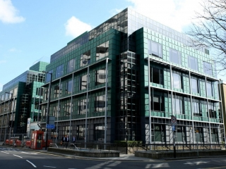 I took this shot of the glass office block opposite East Croydon station. By Dpi Photography
