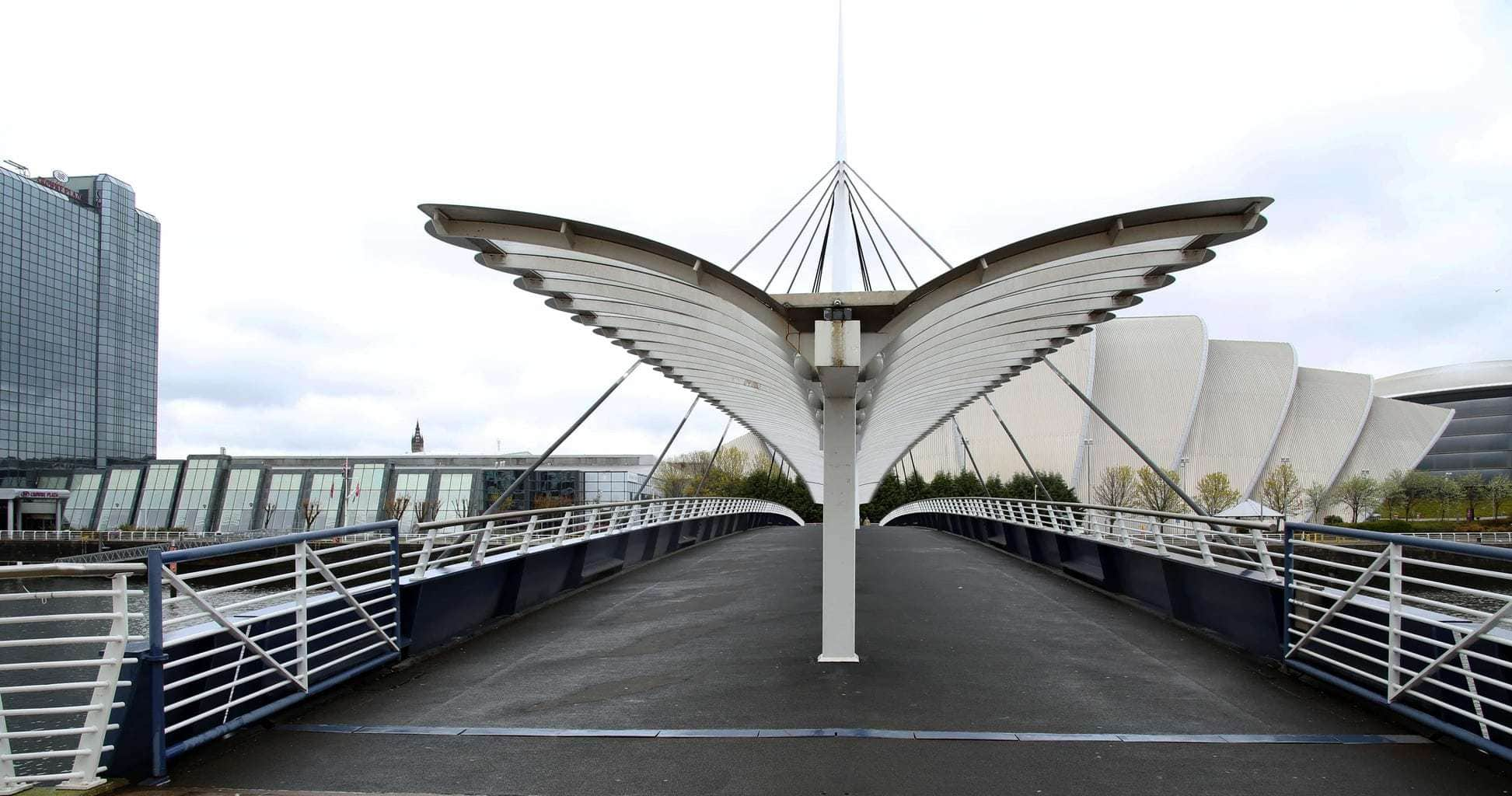 This shot was taken of the rain canopy on the Bridge next to the science centre in Glasgow G51 1da. By Dpi Photography