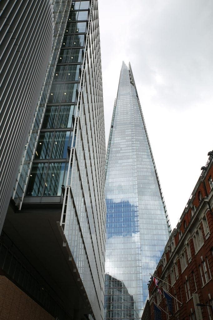 The Shard is such an amazing looking building that I have photographed it many times. I have taken a series of shots at different angles & perspectives and this shot is one of my favourites! The building's architecture transformed the construction of modern office buildings in the capital! By Dpi Photography