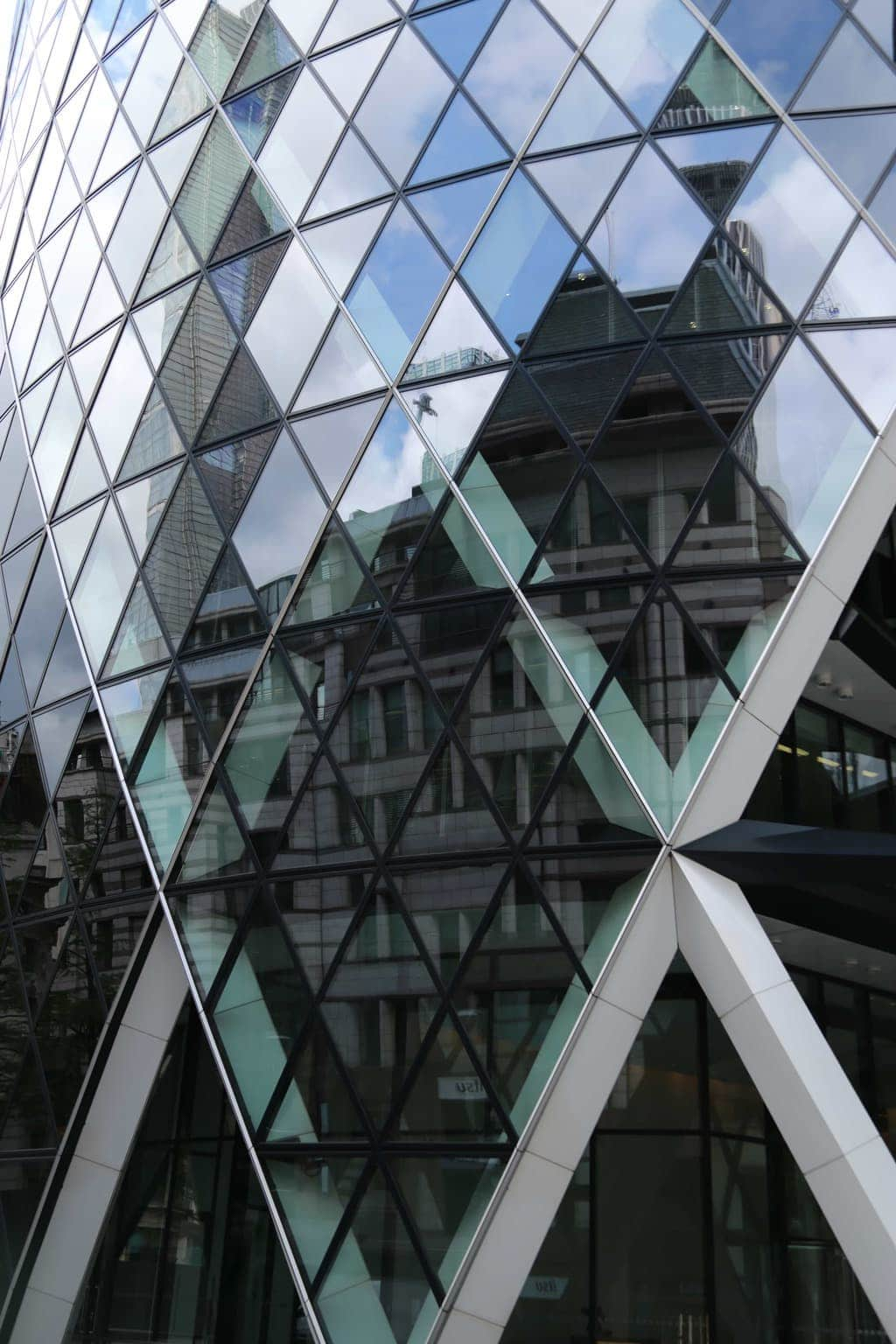 This shot was taken of a reflection in the Gherkin,EC3A 8EP. By Dpi Photography.